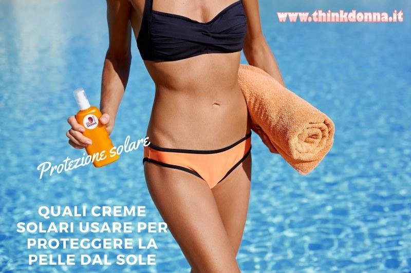 protezione solare creme solari fisico donna pelle abbronzatura telo spugna mare estate