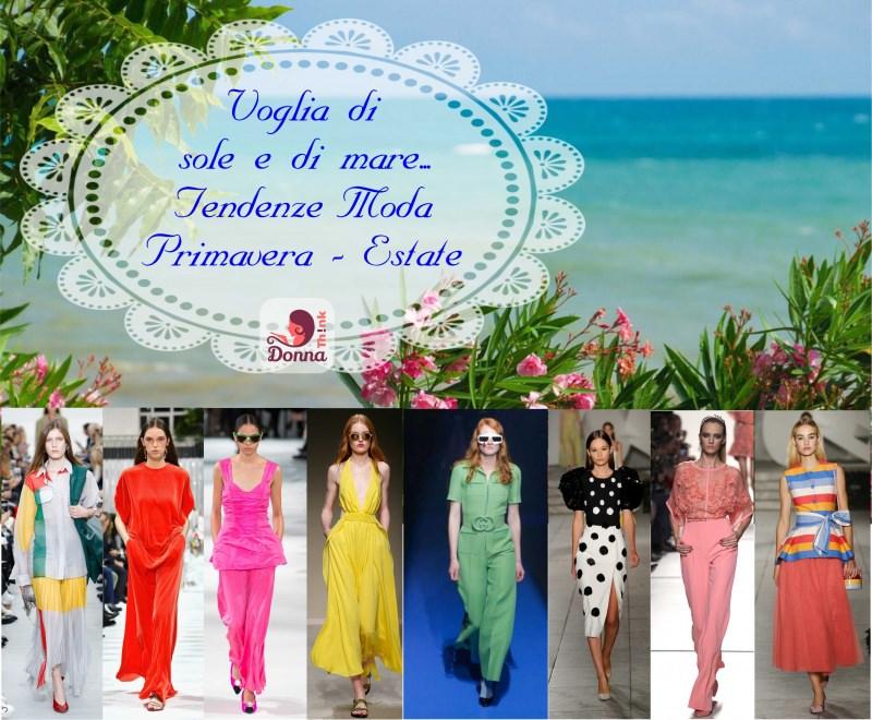 Moda 2018, le tendenze principali primavera estate passerelle sfilate fashion Céline Valentino Stella McCartney Trussardi Gucci Carolina Herrera Elie Saab mare fiori rosa foglie verdi