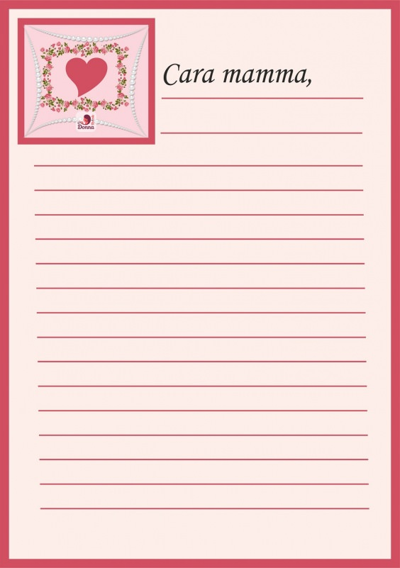 Lettera mamma da stampare con cornice cuore