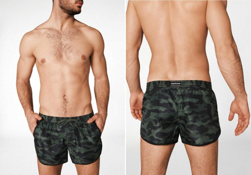 Costume uomo Calzedonia boxer camouflage stampa militare
