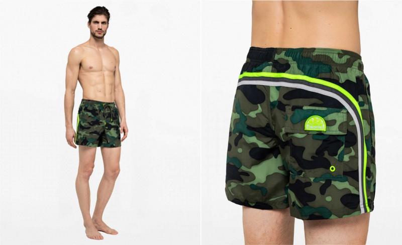 Costume da bagno boxer uomo Sundek stampa camouflage militare