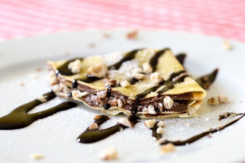 crêpes farcite nutella panna nocciole cioccolato