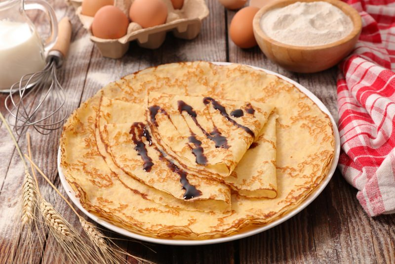 crêpes crespelle grano ingredienti piatto uova farina