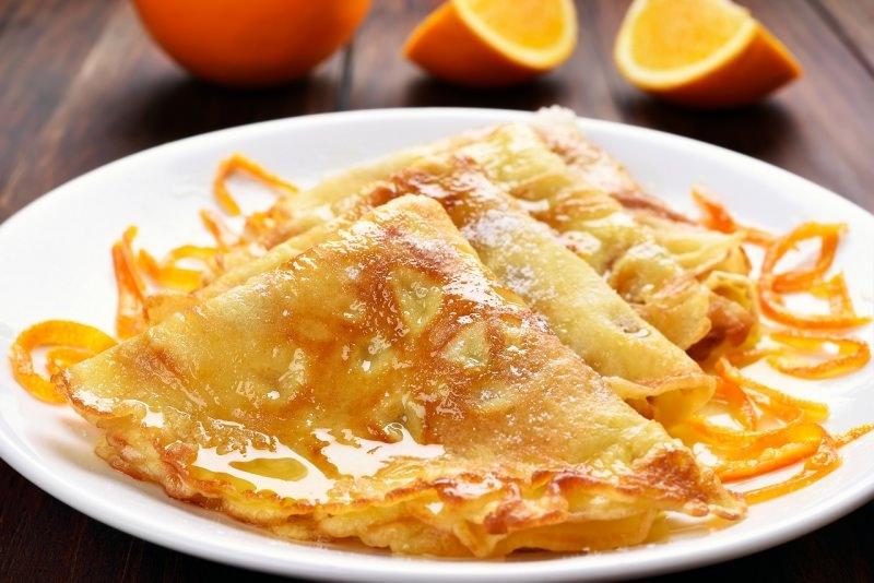 crêpes suzette piatto pronto dessert arancia