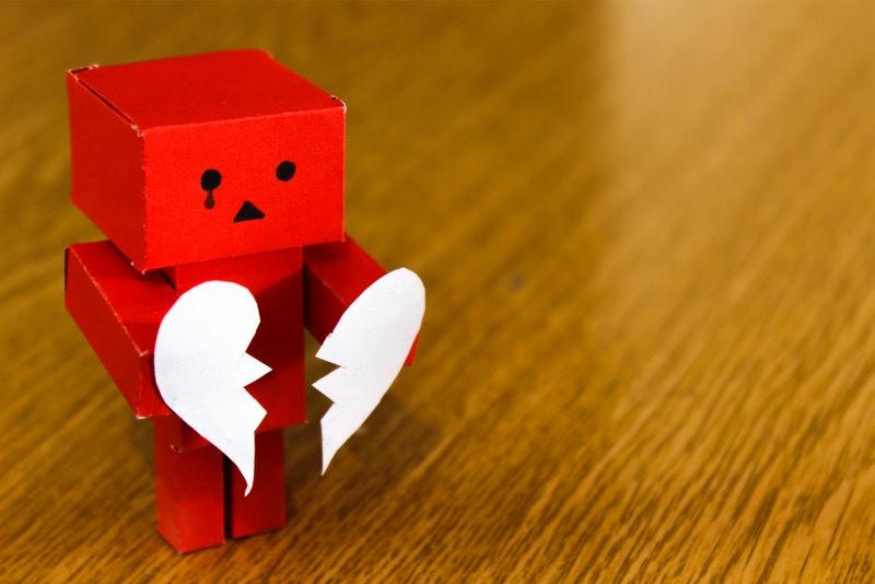 cuore spezzato paura amare