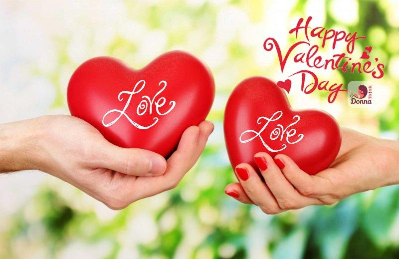 Quale regalo fare per San Valentino per lui e per lei messaggio amore Love Happy Valentine's Day cuori mano uomo donna