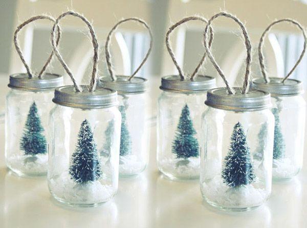 Natale 2018 | Addobbi natalizi| Idee | Colori | Decorazioni barattoli vetro con albero spago fai da te