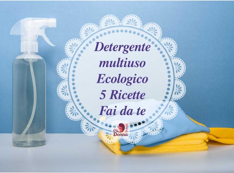 detergente naturale pulizia casa guanti gomma panni flacone spruzzino