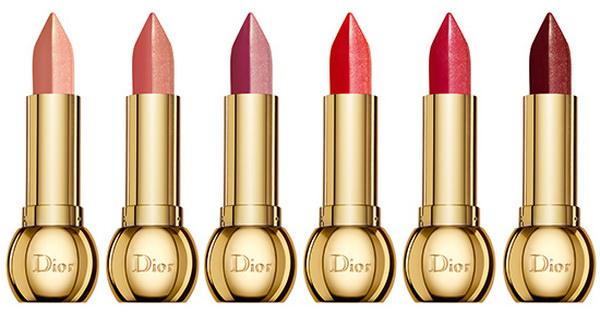 rossetto makeup collezione dior golden shock natale 2014 lipstick nuances rosa oro
