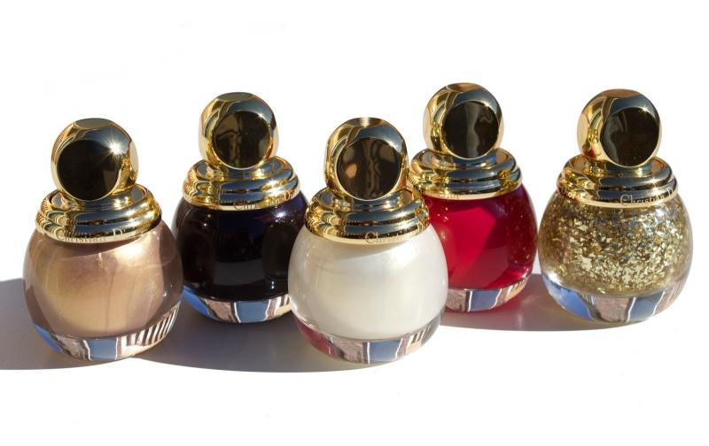 smalti diorific makeup trucco natale 2014 collezione dior golden shock flaconi vetro tappo oro bianco rosso nero glitter