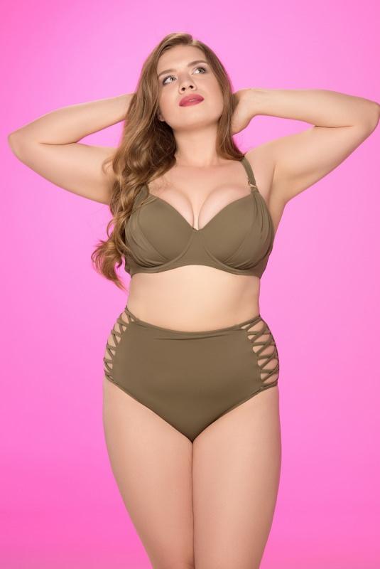 donna curvy costume da bagno due pezzi moda mare estate
