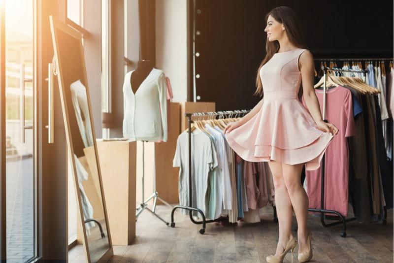 atelier specchio bella donna abito mini dress rosa décolleté
