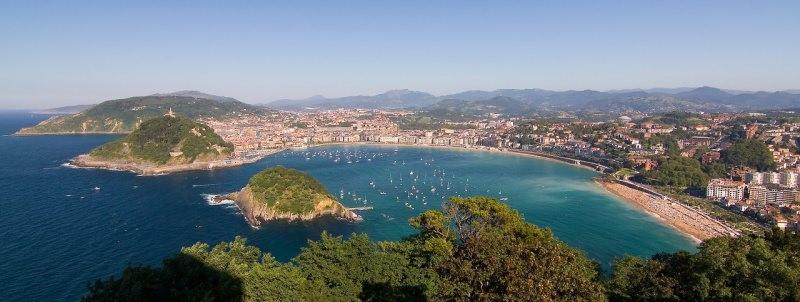 Donostia - San Sebastián vista aerea baia concha spiaggia mare