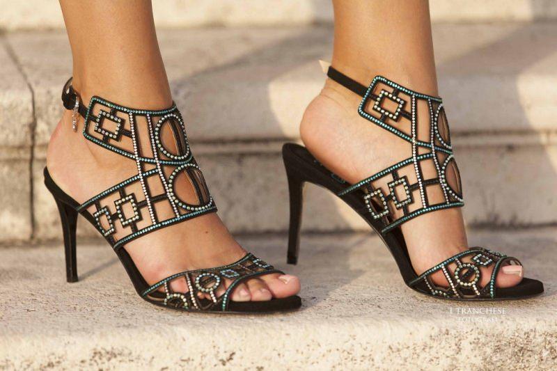 Artimino e la Chaine Toscana Francigena calzature Fabi sandalo