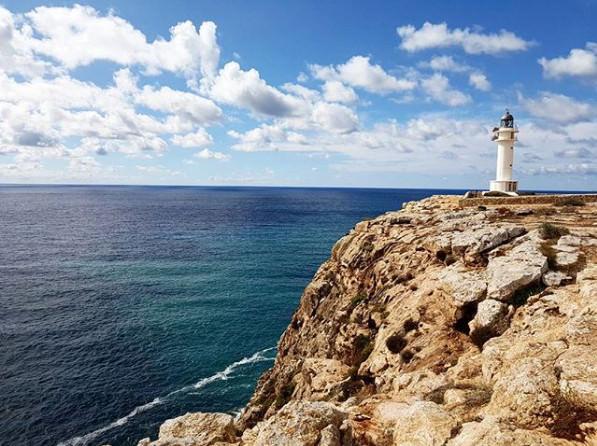 faro di Cap de Barbaria mare Formentera
