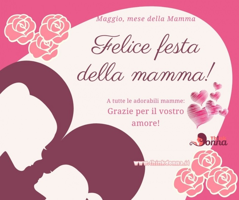 biglietto auguri festa della mamma auguri rose