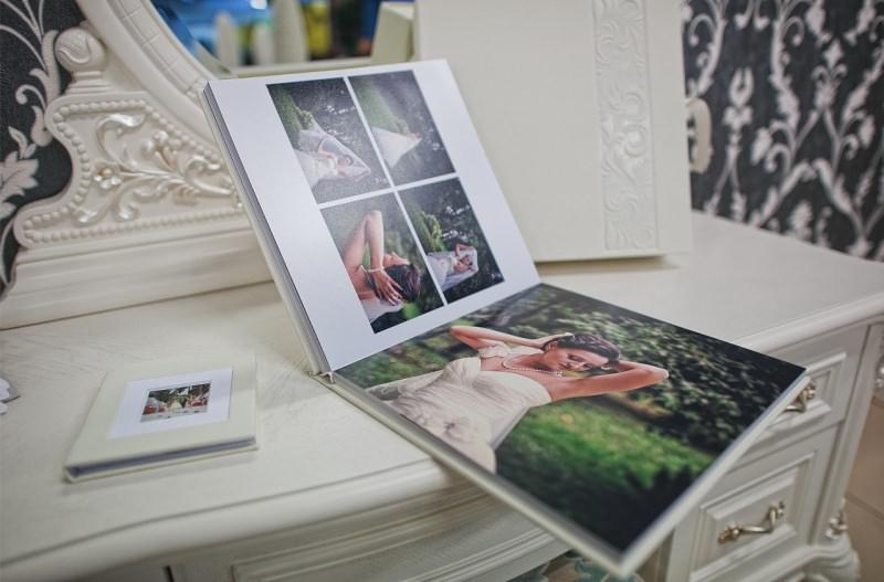 fotolibro album fotografico photo book sposa mobile bianco