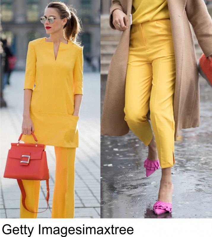 Moda 2018, le tendenze principali primavera estate getty imagesimaxtree colori moda giallo head to toe borsa arancione sandali rosa