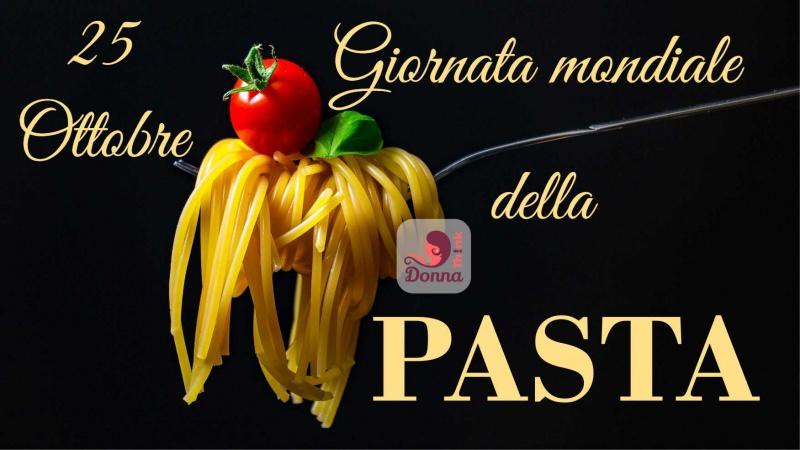 Che cos'è il World Pasta Day? giornata mondiale della pasta 25 ottobre spaghetti pomodoro basilico forchetta