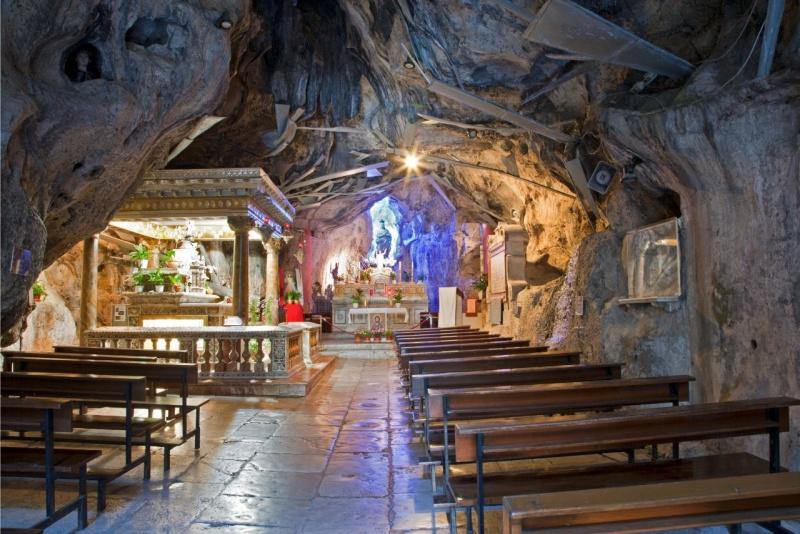 santuario santa Rosalia grotta monte Pellegrino Palermo