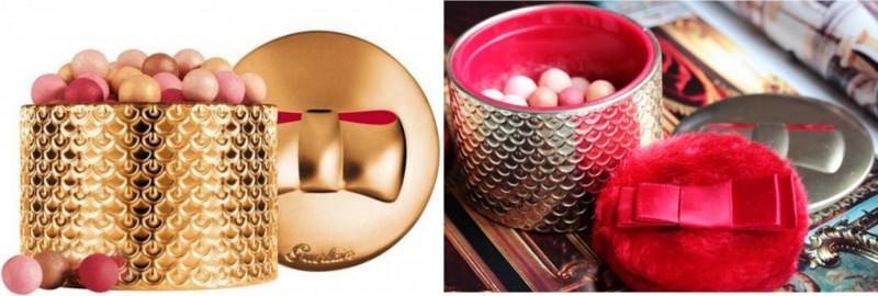 guerlain meterorites perles d'etoile perle illuminanti rosati dorati shimmer confezione oro intarsiato fiocco