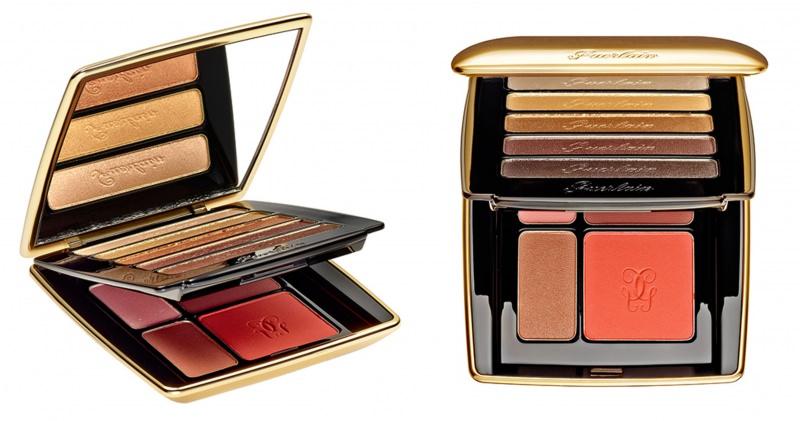 palette collezione guerlain un soir à l'opéra petrouchka palette eyes & cheek oro specchio makeup trucco natale 2014