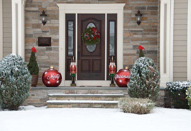 casa ingresso decorazione natale