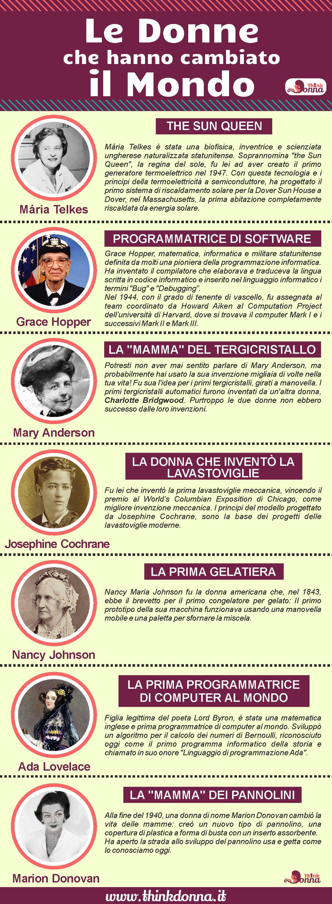 infografica le donne che hanno cambiato il mondo