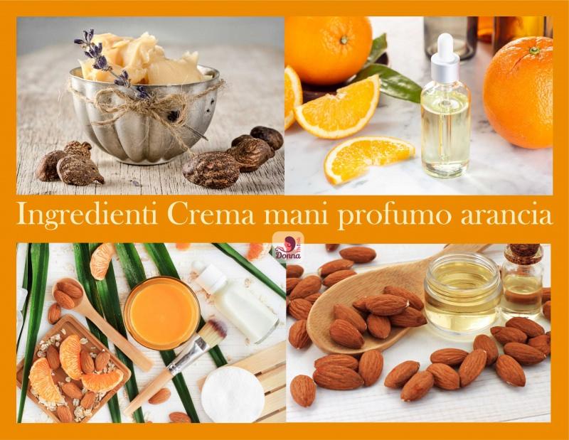 logo ingredienti crema mani burro di karitè olio essenziale arancia olio di mandorle dolci