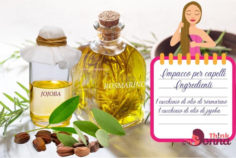bottigliette olio rosmarino jojoba illustrazione cura dei capelli