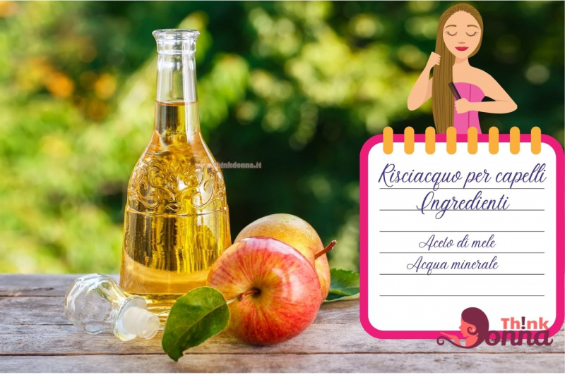 bottiglia di vetro aceto di mele illustrazione cura dei capelli