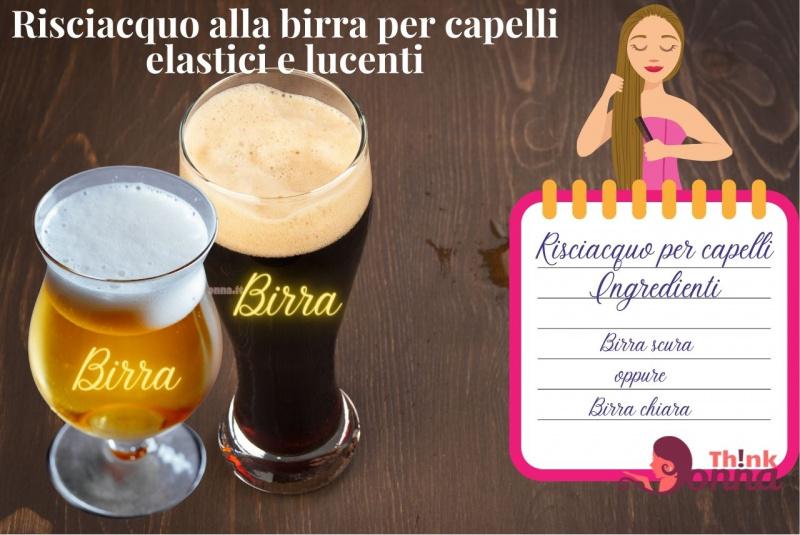 bicchiere birra bionda chiara scura illustrazione cura dei capelli