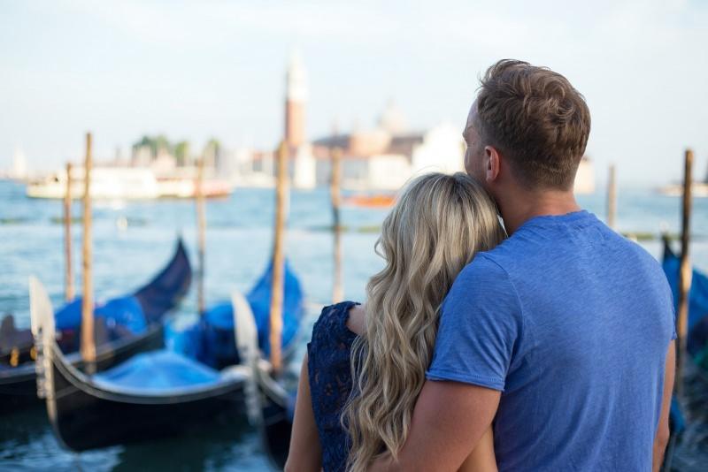 innamorati a venezia mare