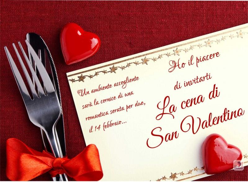 invito san valentino cena romantica per due cuore