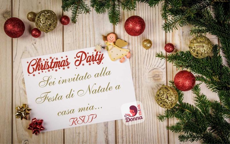 Come preparare il Natale in anticipo, mese di novembre invito christmas party angelo biglietto palline decorazioni fiocchi