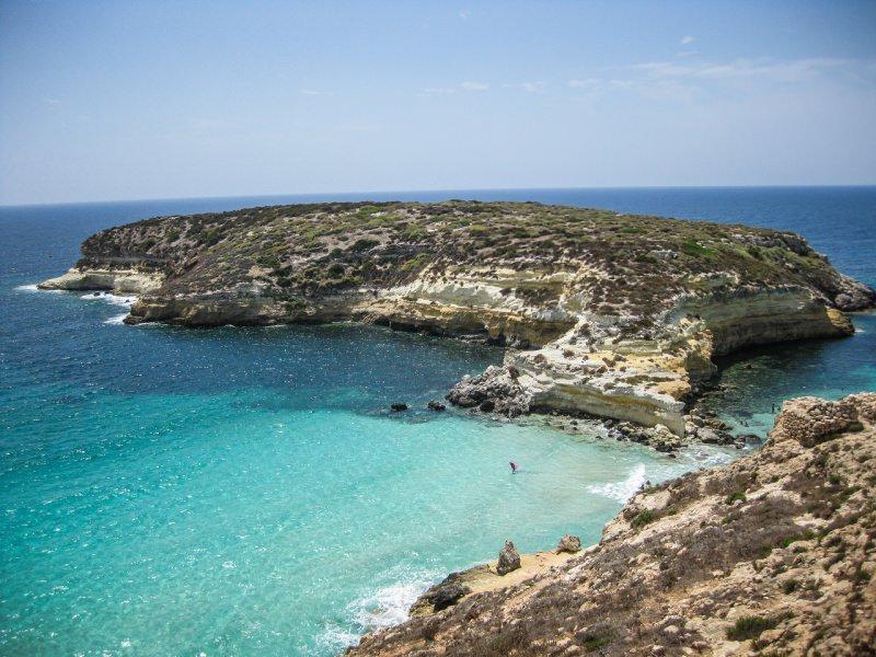 Isola dei Conigli mare Lampedusa