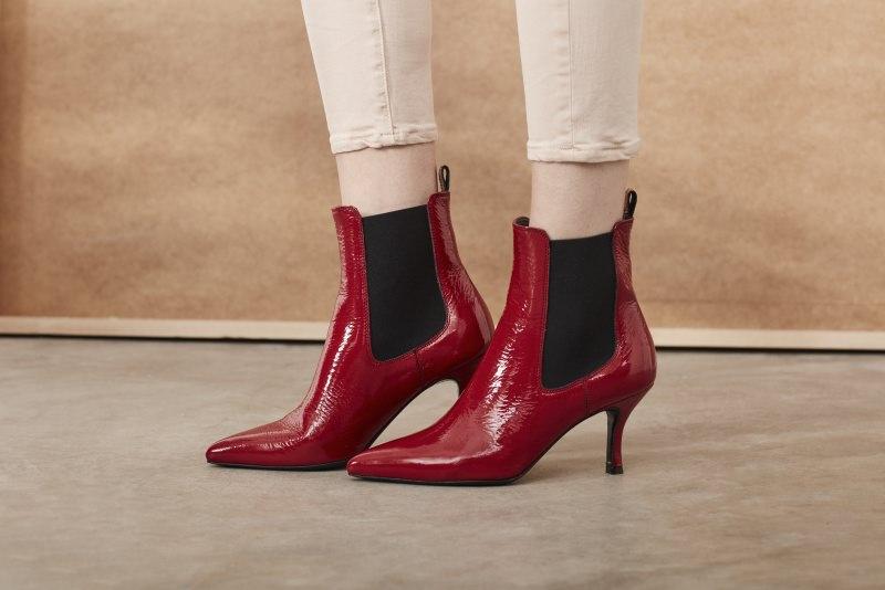 stivaletto con tacco vernice rossa Janet & Janet Scarpe con il tacco non vi temo: i modelli da scegliere per non soffrire