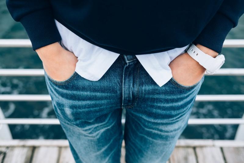 jeans blu denim donna camicia maglione blu scuro