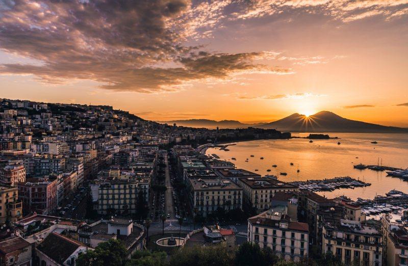tramonto bellissimo Golfo di Napoli mare