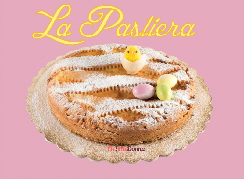 la pastiera napoletana dolce di Pasqua pulcino uova colorate zucchero a velo