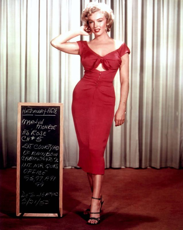 Marilyn Monroe abito rosso red