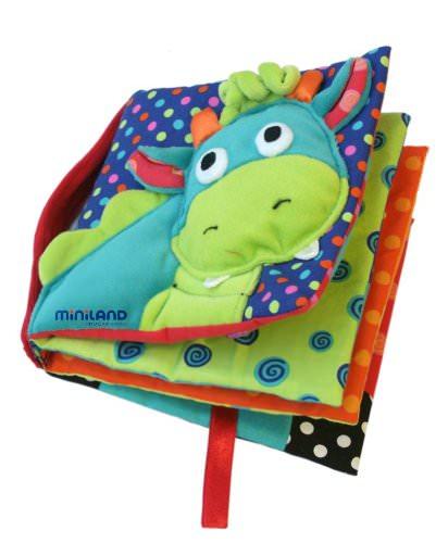 A Natale, regala un libro! dragy miniland quiet book stoffa libro attibvità colori verde celeste
