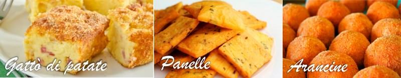 gattò di patate arancine arancini panelle festa santa lucia tradizione