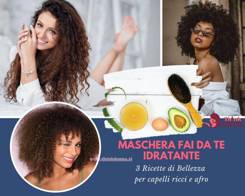 maschere di bellezza fai da te naturali donne capelli ricci afro sorrisi