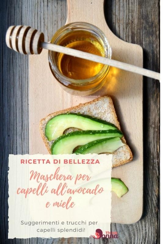 maschera bellezza capelli avocado mielebarattolo vetro tagliere spargimiele consigli ricetta
