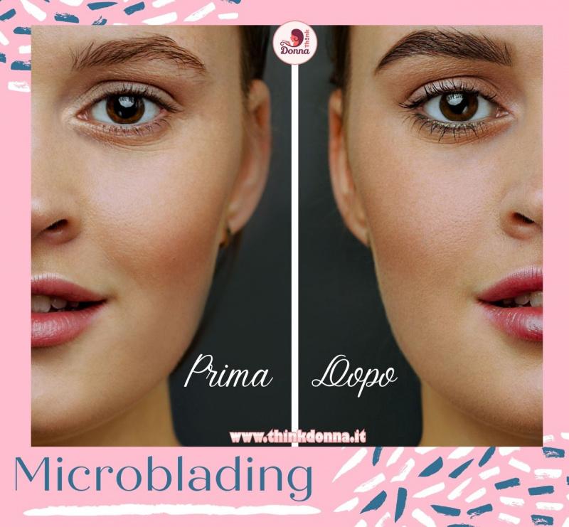 viso donna occhi castani microblading prima dopo