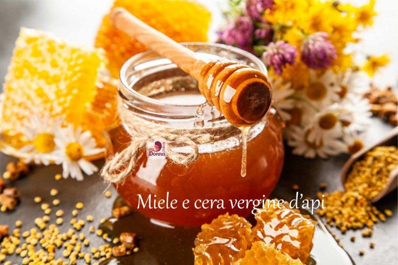barattolo miele cera vergine d'api spargimiele fiori
