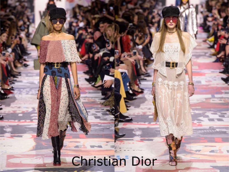 Moda donna cosa comprare per rinnovare il guardaroba autunno inverno abito hippy folk Christian Dior sfilata