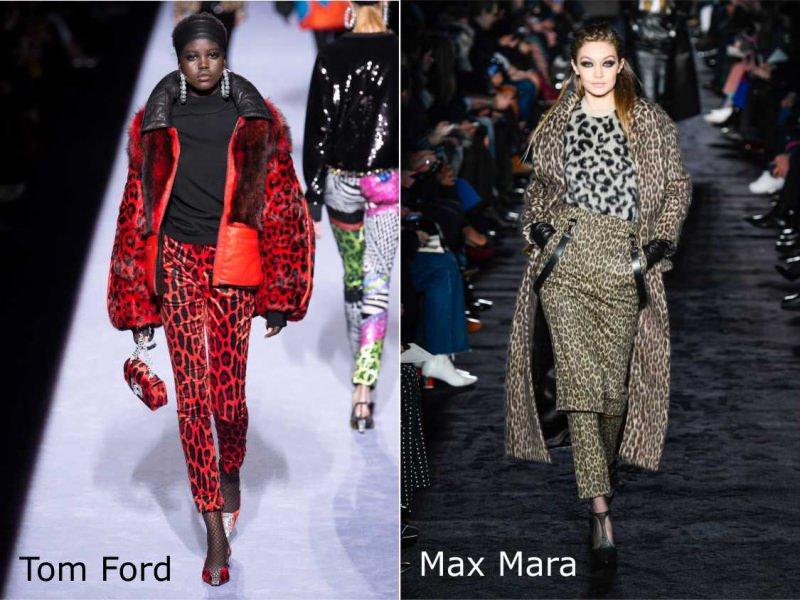 Moda donna cosa comprare per rinnovare il guardaroba autunno inverno stile animalier pantalone giubbotto leopardato rosso nero Tom Ford gonna cappotto Max Mar