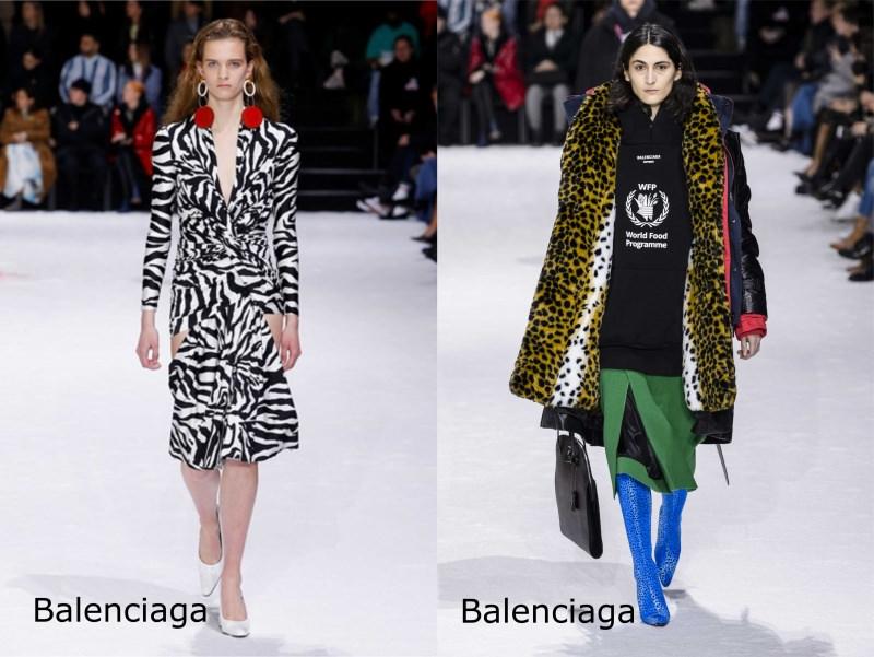 Moda, quali stili vedremo il prossimo autunno/inverno 2018 2019 stile animalier Balenciaga sfllate passerella